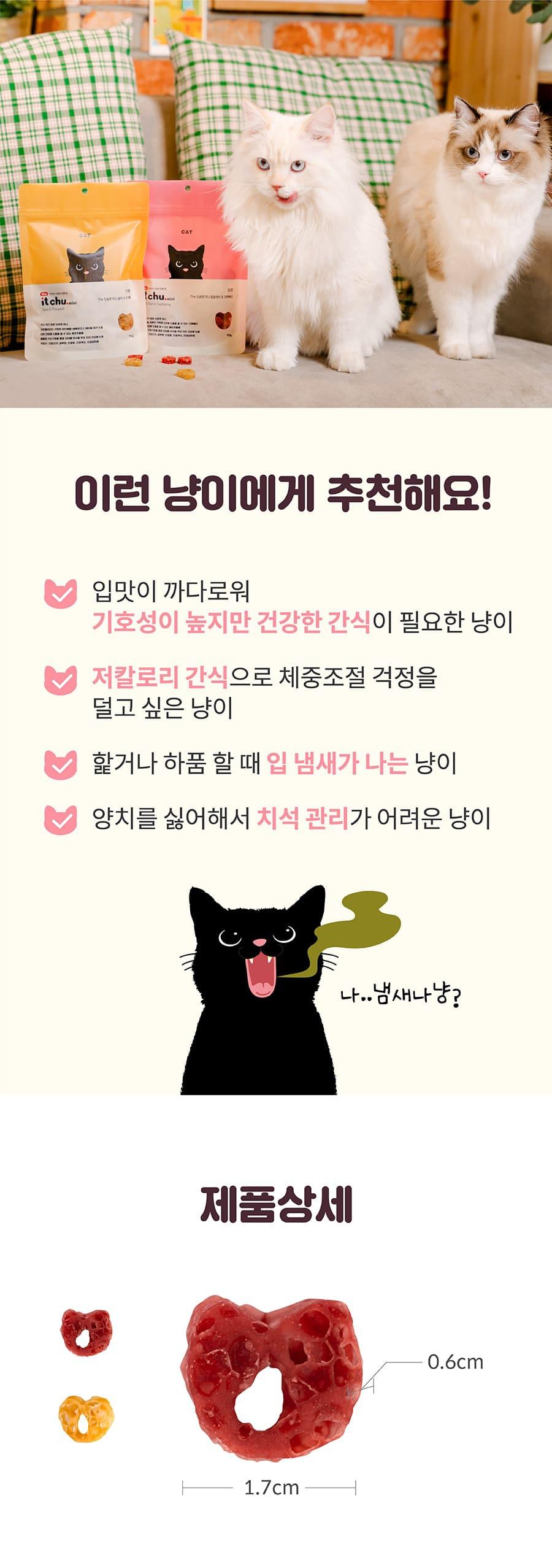 it 더 잇츄 캣 미니 (흰살생선&크랜베리/참치&파인애플)-상품이미지-16